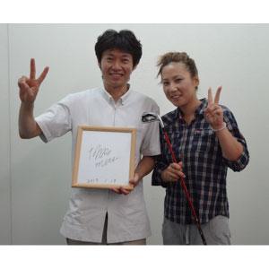 女子プロゴルファー、三津桃子選手のトレーナーをしております。